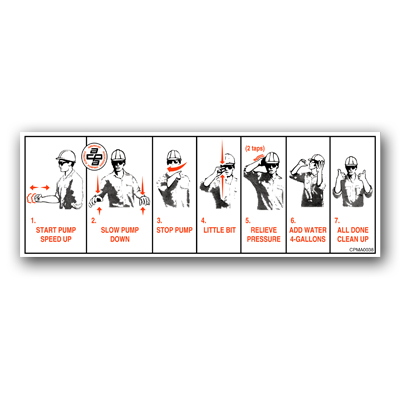 Hand Signals Decal Trailer Pump Only American Concrete