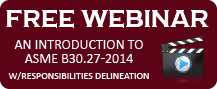 Free ACPA Webinar: An Introduction to ASME B30.27-2014