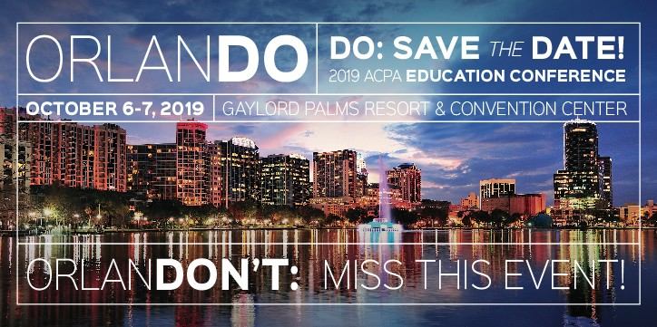 2019 ACPA Education Conference: Save the Date