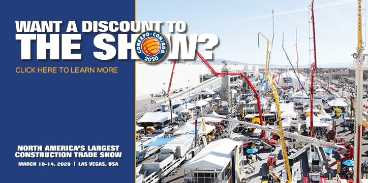 Discounted admission offer for CONEXPO-CON/AGG 2020