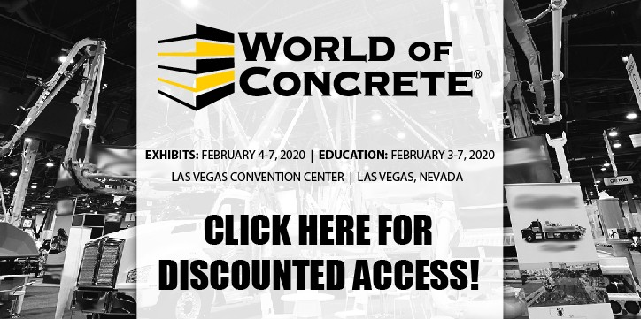 Click here for discounted access to World of Concrete 2020