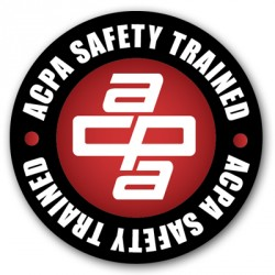 Safety Trained Decal American Concrete Pumping Association